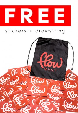 Free Stickers + Drawstring Bag